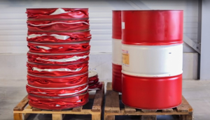 oil drum compaction