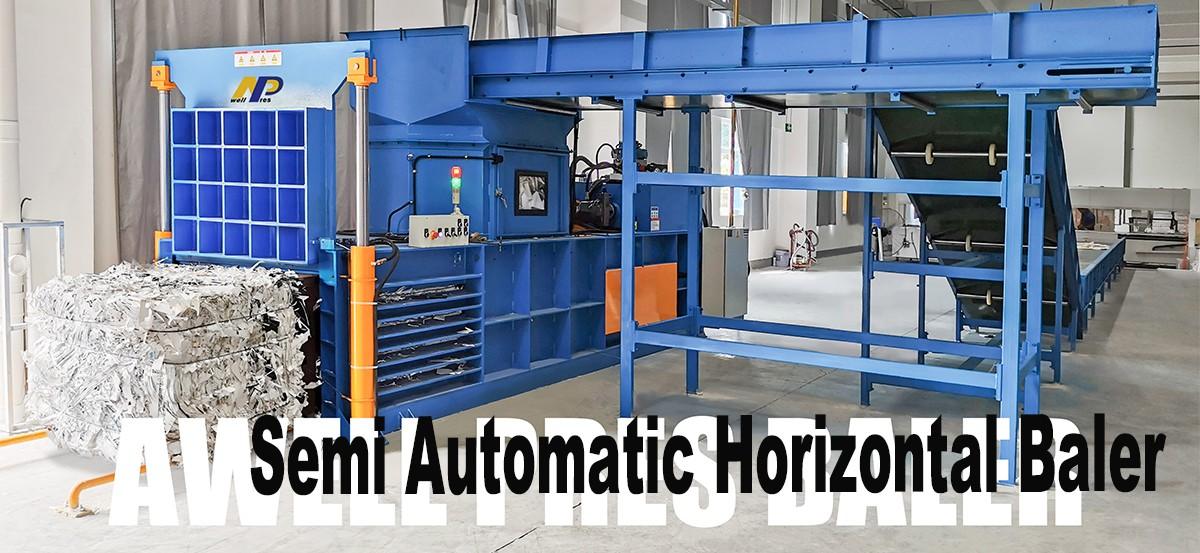 semi-automatic baler, corrugated compression