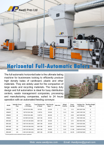 occ recycling, hydraulic press
