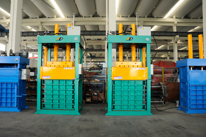 chamber lifting textile baler for shoes, clothing press, hydraulic press for fiber