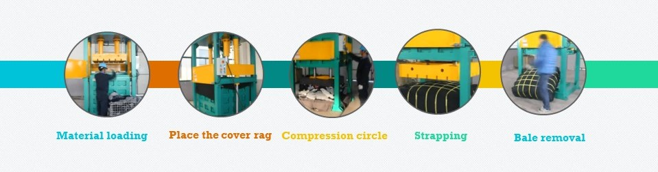 used second hand cloth baler hydraulic press for shoes