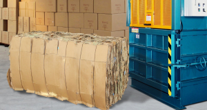 Awell Pres baler M series vertical cardboard baler