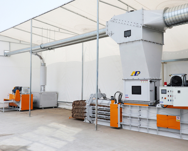 Balers are the core components to the trim removal system which can significant reduce the size of the material to bring efficiency in storage and transportation.
