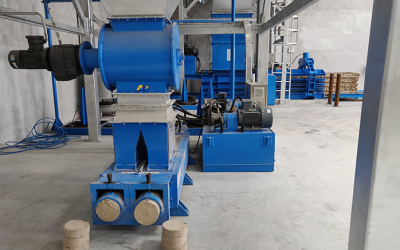 Our briquetting machine can actually turn dust to value. The briquetting machine is installed right under each of the baghouse dust collector, hydraulically compress the dust into consistent shaped high density briquettes.