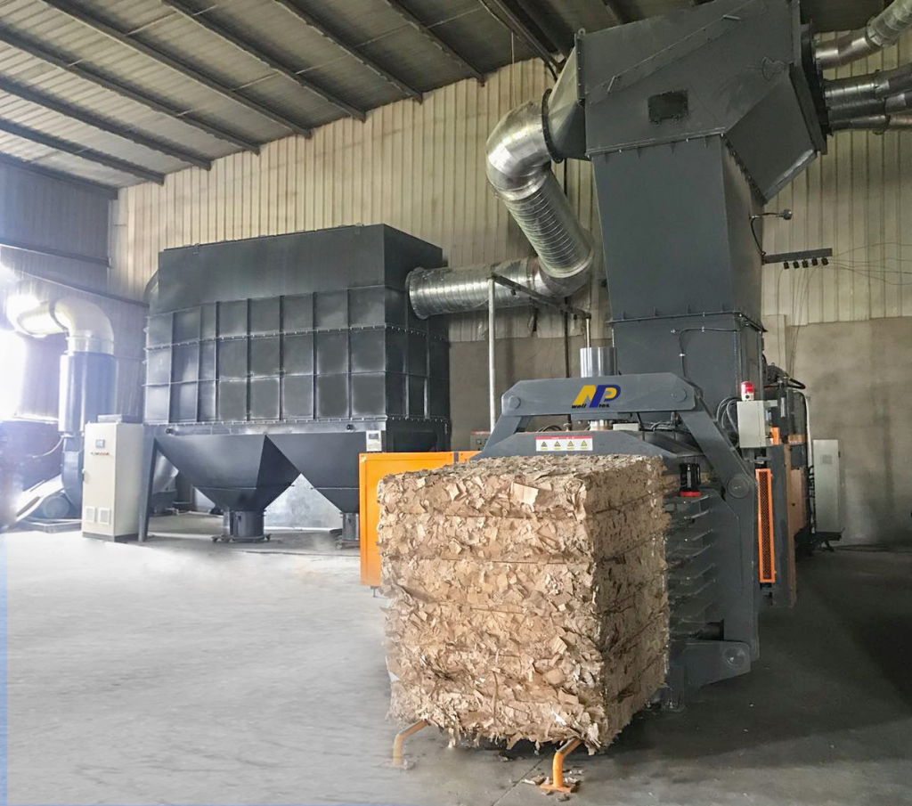 awell pres full auto horizontal baler for corrugated paper